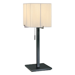 Sonneman One Light Black Table Lamp