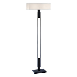 Sonneman Two Light Nickel Floor Lamp