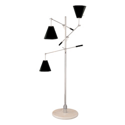 Sonneman Floor Lamp W/ Black Shades