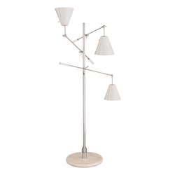 Sonneman Floor Lamp W/ White Shades