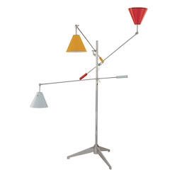 Sonneman Floor Lamp W/ Multi Color Shad