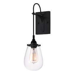 Sonneman Wall Light Satin Black
