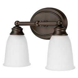 Capital Burnished Bronze Capital Vanities 2 Light Bathroom Vanity Light
