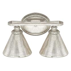 Capital Antique Silver Corrigan 2 Light Bathroom Vanity Light