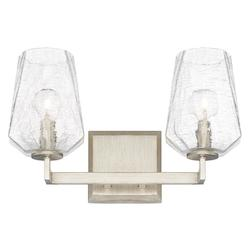 Capital Brushed Silver Arden 2 Light Bathroom Vanity Light