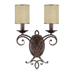 Capital Rustic Reserve 2 Light Candle-Style Wall Sconce