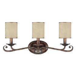 Capital Rustic Reserve 3 Light Bathroom Vanity Fixture