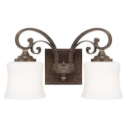 Capital Dark Spice Kingsley 2 Light Bathroom Vanity Light