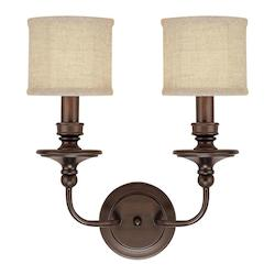 Capital Burnished Bronze Midtown 2 Light Candle-Style Wall Sconce