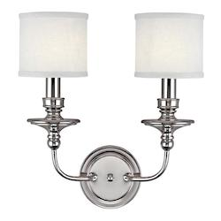 Capital Two Light Polished Nickel Wall Light