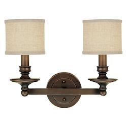 Capital Burnished Bronze Loft 2 Light Bathroom Vanity Fixture