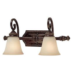 Capital Chesterfield Brown Barclay 2 Light Bathroom Vanity Fixture