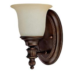 Capital Burnished Bronze Avery 1 Light Bathroom Sconce