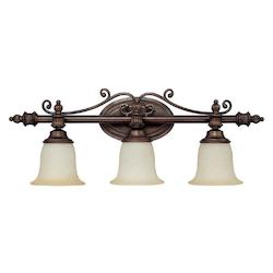 Capital Burnished Bronze Avery 3 Light Bathroom Vanity Fixture