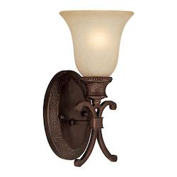 Capital Burnished Bronze Hill House 1 Light Wall Sconce