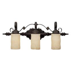 Capital Rustic Iron River Crest 3 Light Bathroom Vanity Fixture