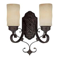 Capital Rustic Iron River Crest 2 Light Double Sconce