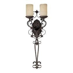 Capital Rustic Iron River Crest 2 Light Candle-Style Wall Sconce
