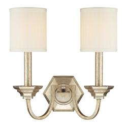 Capital Winter Gold Fifth Avenue 2 Light Candle-Style Wall Sconce