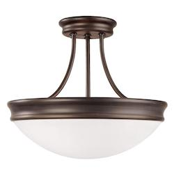 Capital Three Light Oil Rubbed Bronze Bowl Semi-Flush Mount