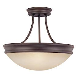 Capital Oil Rubbed Bronze 3 Light Semi-Flush Ceiling Fixture