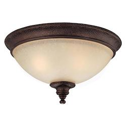 Capital Burnished Bronze Hill House 2 Light Flush Mount Ceiling Fixture