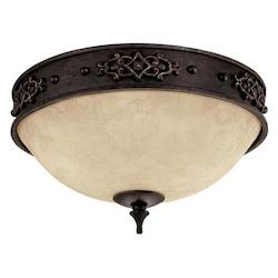 Capital Rustic Iron River Crest 2 Light Flush Mount Ceiling Fixture