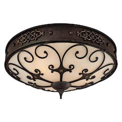 Capital Rustic Iron River Crest 3 Light Flush Mount Ceiling Fixture