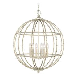 Capital Soft Gold Pendants 6 Light 1 Tier Chandelier