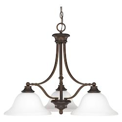 Capital Burnished Bronze Belmont 3 Light 1 Tier Empire Chandelier