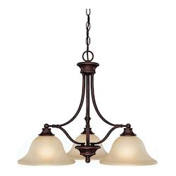 Capital Burnished Bronze Belmont 3 Light 1 Tier Linear Chandelier
