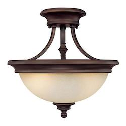Capital Burnished Bronze Belmont 2 Light Semi-Flush Ceiling Fixture