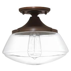 Capital 1 Light 11In. Wide Semi-Flush Ceiling Fixture