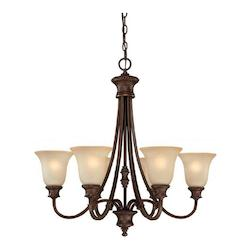 Capital Burnished Bronze Hill House 6 Light 1 Tier Chandelier