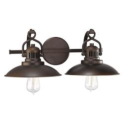 Capital Burnished Bronze Oft.Neill Collection 2 Light Bathroom Vanity Fixture