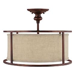 Capital Burnished Bronze Loft 3 Light Semi-Flush Ceiling Fixture