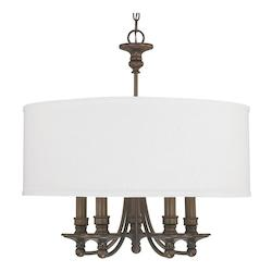 Capital Burnished Bronze 5 Light 25in. Wide Chandelier from the Midtown Collection