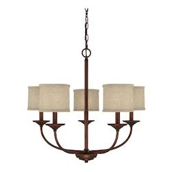 Capital Burnished Bronze Loft 5 Light 1 Tier Chandelier