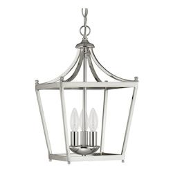 Capital Open Box Three Light Polished Nickel Foyer Hall Pendant