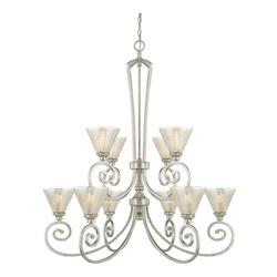 Capital Antique Silver Seaton 10 Light 2 Tier Chandelier