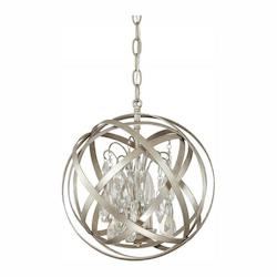 Capital 3 Light Pendant With Crystals Included