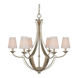 Capital Winter Gold Soho 6 Light 1 Tier Empire Chandelier