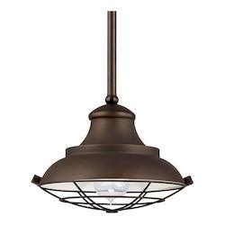 Capital Burnished Bronze Pendant Collection 1 Light Full Sized Pendant