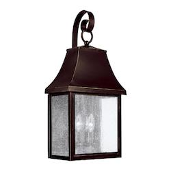 Capital New Bronze Collins Hill 3 Light Outdoor Wall Sconce