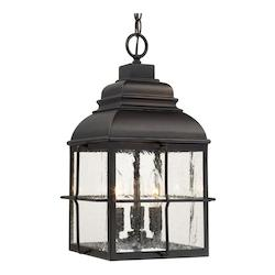 Capital Old Bronze Lanier 3 Light Outdoor Pendant