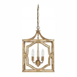 Capital Open Box Antique Gold Blakely 3 Light 13in. Wide Chandelier