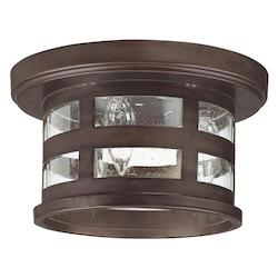 Capital Burnished Bronze 3 Light Energy Star Outdoor Flush Mount Ceiling Fixture