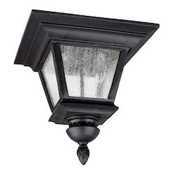 Capital Black Brookwood 3 Light Energy Star Outdoor Flush Mount Ceiling Fixture