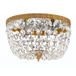 Crystorama Crystorama 2 Light Clear Italian Crystal Olde Brass Ceiling Mount