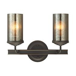 Sea Gull Sfera Two Light Wall / Bath Vanity In Autumn Bronze With Mercury Glass